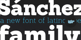 Sanchez Font by Latinotype
