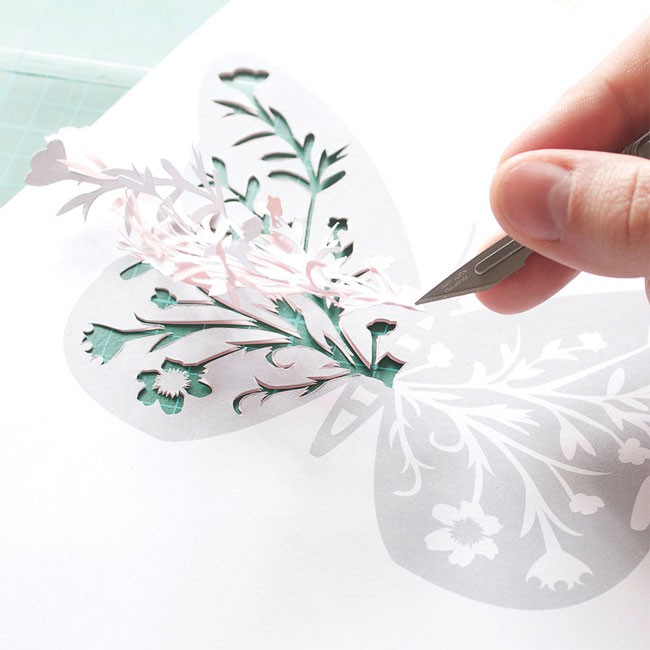 Papercut Butterfly Template | Mr Yen Designs