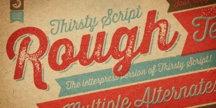 Thirsty Rough Font by Yellow Design Studio