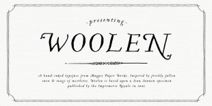 Woolen Font by Magpie Paper Works