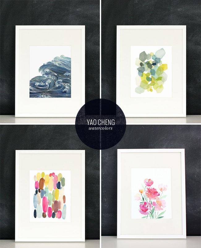 Yao Cheng Watercolor Art Prints