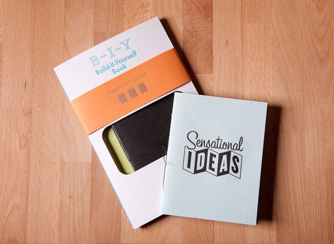 Build-It-Yourself Letterpress Pamphlet Stitch Book | Igloo Letterpress