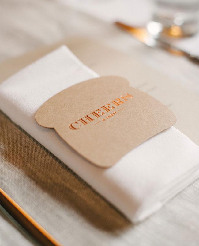 Cheers Toast Coasters | Plumbum Letterpress