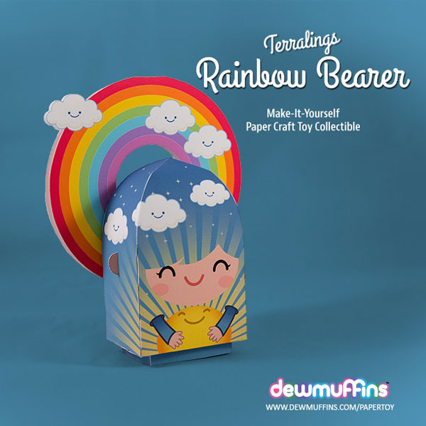 Rainbow Bearer Paper Toy | Dewmuffins