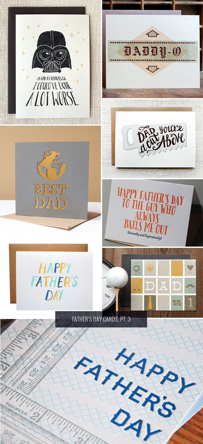 Father's Day Cards, Pt. 3 as seen on papercrave.com