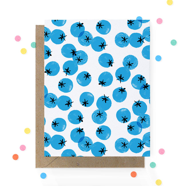 Blueberry Print Card   Hooray Today