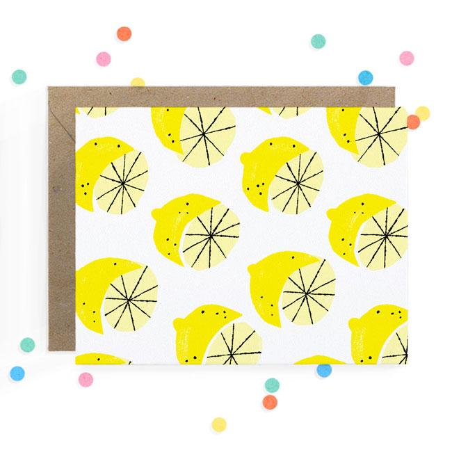 Lemon Print Card   Hooray Today