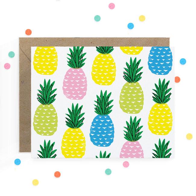 Pineapple Print Card   Hooray Today