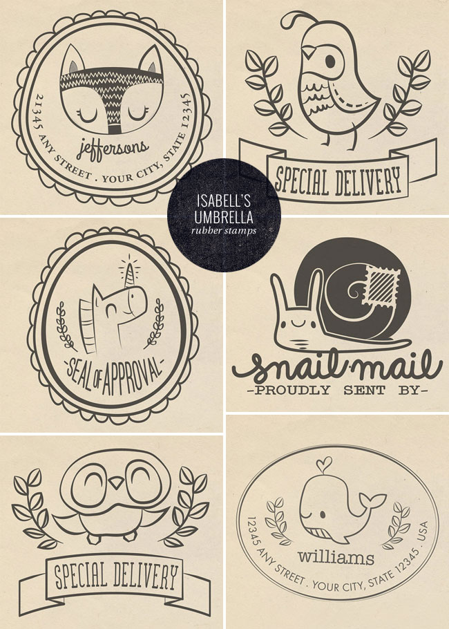 Cute Photopolymer Stamps | Isabell's Umbrella