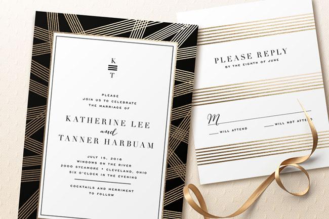 Foil Pressed Wedding Invitations | Minted