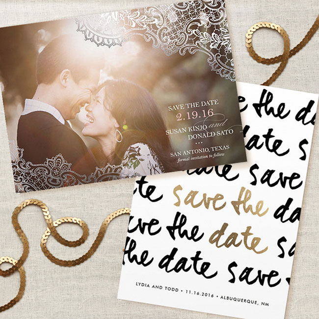 Foil Pressed Save the Dates | Minted