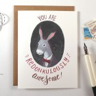 Redonkulously Awesome Card | Four Wet Feet Studio