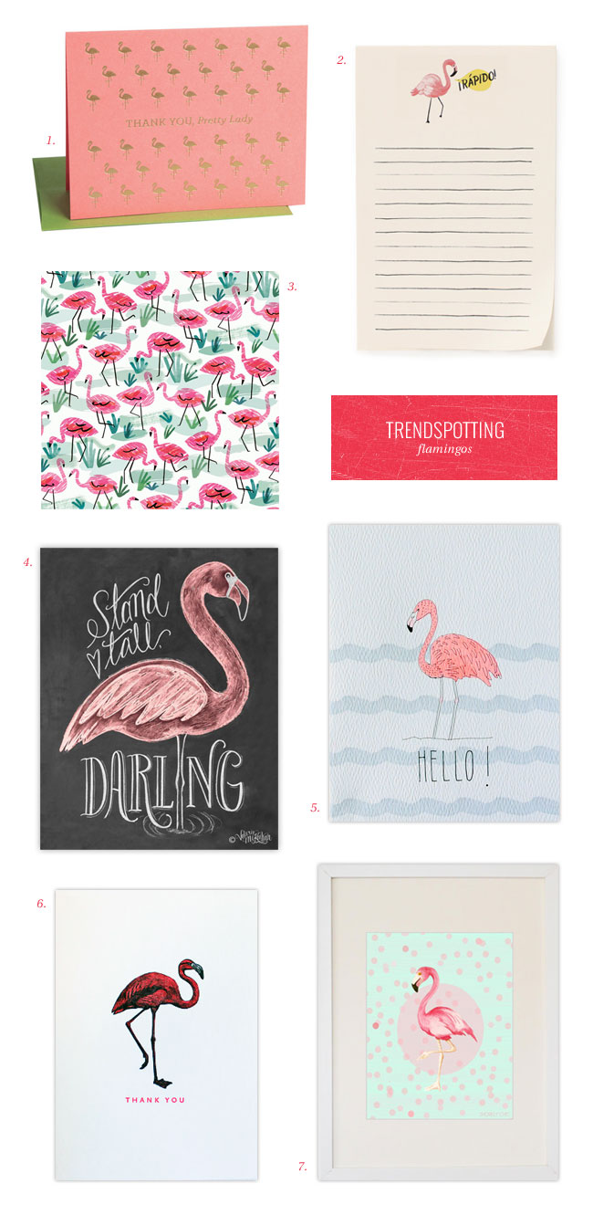 Stationery Trendspotting : Flamingos