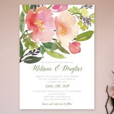 Floral Watercolor Wedding Invitations by Yao Cheng