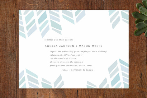 Arrow Head Wedding Invitations by Fig and Cotton Paperie