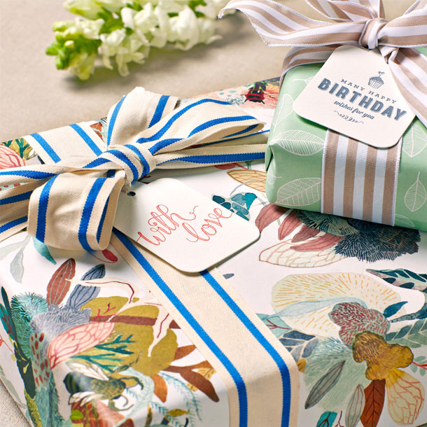 Mint Leaves & Honey Cluster Gift Wrap | Bespoke Letterpress