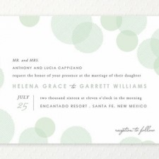 Blissful Bokeh Wedding Invitations by Design Lotus