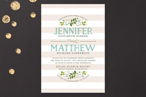 Modern Botanical Wedding Invitations by Jessica Williams
