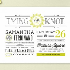 Trendy Type Wedding Invitations by Chocomocacino