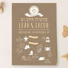 Rustic Kraft Camp Love Wedding Invitations by Dea & Bean