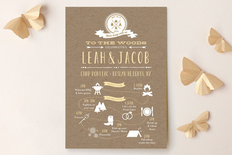 Rustic Kraft Camp Love Wedding Invitations by Dea & Bean