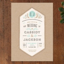 Rustic Kraft Wedding Invitations by Jennifer Wick