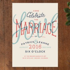 Vintage Hipster 3D Type Wedding Invitations by Miranda Lyn