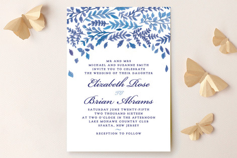 China Plate Wedding Invitations by Ariel Rutland