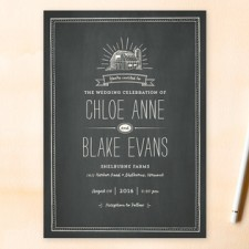 Farm Chalkboard Wedding Invitations by Smudge Design