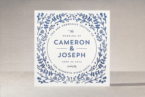 frame letterpress wedding invitations by lori wemple, Wedding invitations