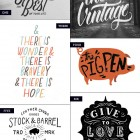 Hand Lettered Love #35 as seen on papercrave.com