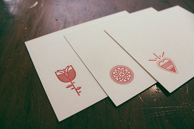Hipster Letterpress Cards | Harry Diaz
