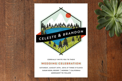 Hipster Merit Badge Wedding Invitations by Angela Marzuki