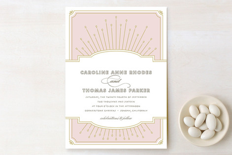 Modern Deco Wedding Invitations by Vellum and Vogue