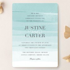 Ombre Painted Wedding Invitations by Jennifer Wick
