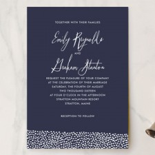 Sprinkled Love Wedding Invitations by Paper Dahlia