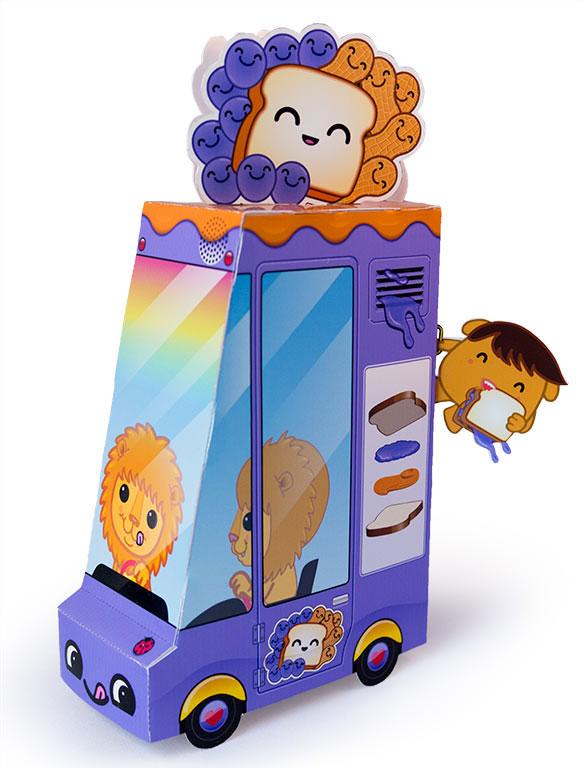 Free Printable PB & J Food Truck Paper Toy | Dewmuffins