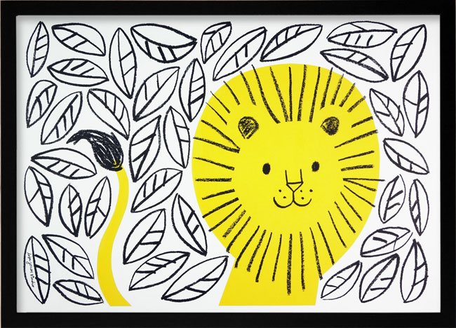 Jungle Lion Risograph | Lisa Jones