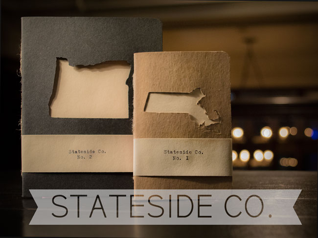 Hand-Stitched, Etched Cover State Notebooks / Stateside Co.