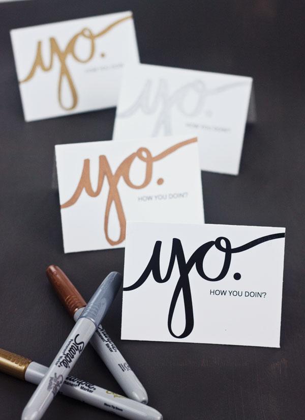 "Free Printable ""Yo"" Mini Cards | Paper Crave"