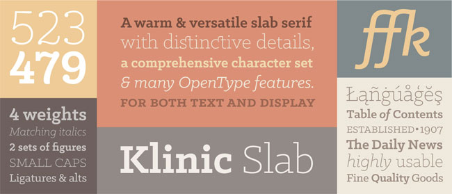 Klinic Slab Font by Joe Prince