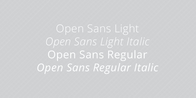 Open Sans Font by Ascender Fonts