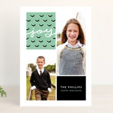 Abstract Pinecone Holiday Photo Cards