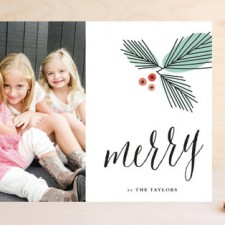 Art Deco Pines Holiday Photo Cards