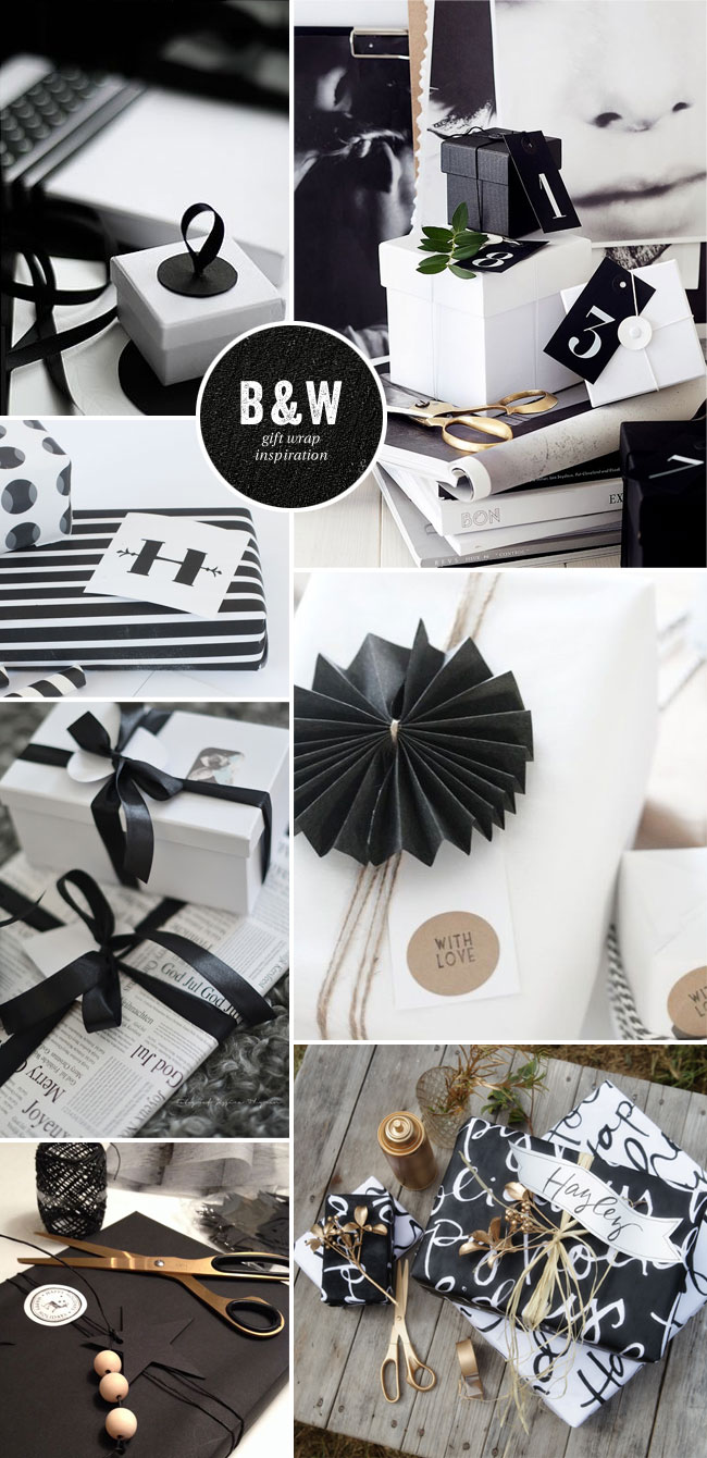 Black & White Gift Wrap Inspiration