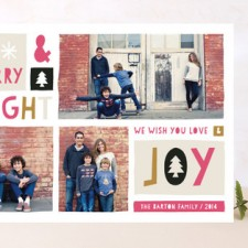 Block of Joy Holiday Photo Cards