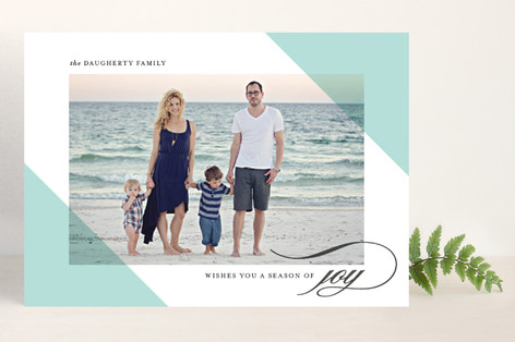 Candy Corners Holiday Photo Cards