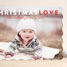 Christmas Love Holiday Photo Cards