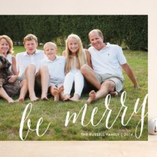 Classic Script Holiday Photo Cards