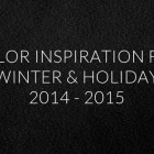 12 Color Palettes for Winter & Holiday 2014 -2015